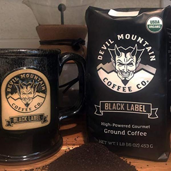 Black Label Dark Roast Ground Coffee, Strongest Coffee in the ...