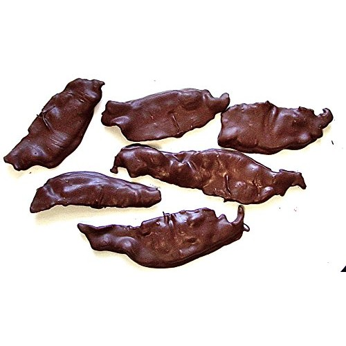 DiabeticFriendly Sugar Free DARK Chocolate Covered Bacon Slices,...
