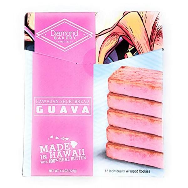 Diamond Bakery Guava Hawaiian Macadamia Nut Shortbread Cookies 4...