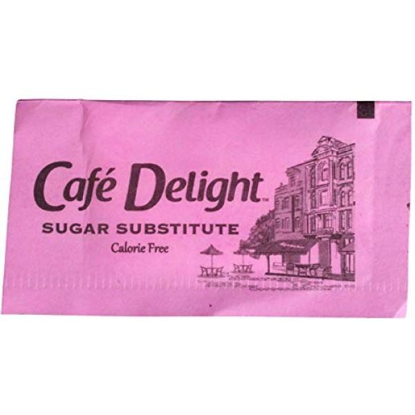 Cafe Delight Pink Saccharin Packet, 0.8 Gram -- 2500 per case.