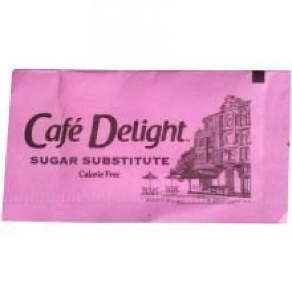 Cafe Delight Pink Saccharin Packet, 0.8 Gram -- 2000 per case.
