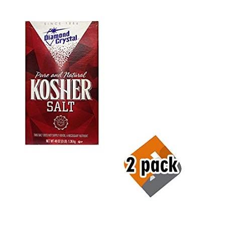 Diamond Crystal Kosher Salt, 48 Ounce Pack of 2