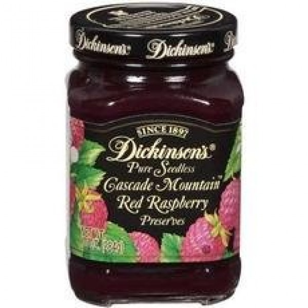 Dickinsons Cascade Mountain Pure Seedless Preserves Red Raspber...