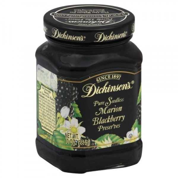 Dickinsons Preserves 10 Oz Pack of 3 Pure Seedless Marion Bl...