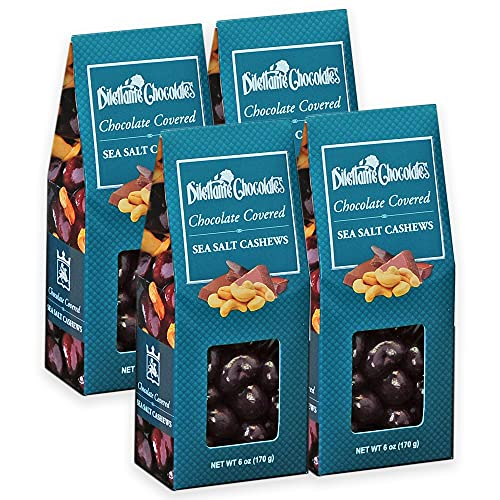 Milk Chocolate Covered Cashews - 6 oz Gift Box - by Dilettante ...