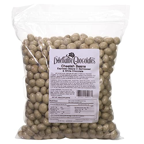 Bulk Chocolate Espresso Beans Marbled (Cheetah) - Dilettante - 5lb