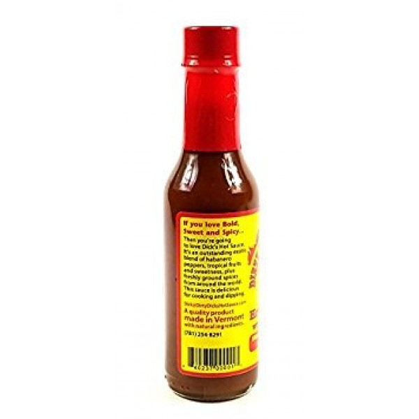 Dirty Dicks Hot Pepper Sauce with a Tropical Twist - 5 Fl Oz 2...