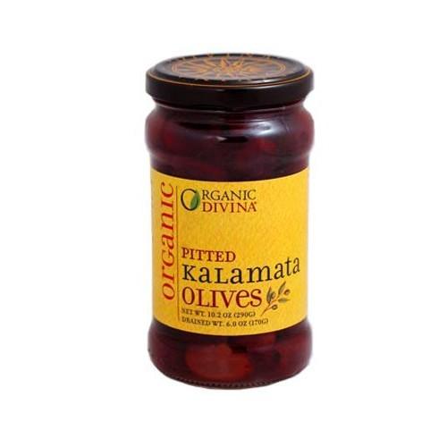 Divina Organic Pitted Kalamata Olives, 10.2-Ounce Jars (Pack of 3)