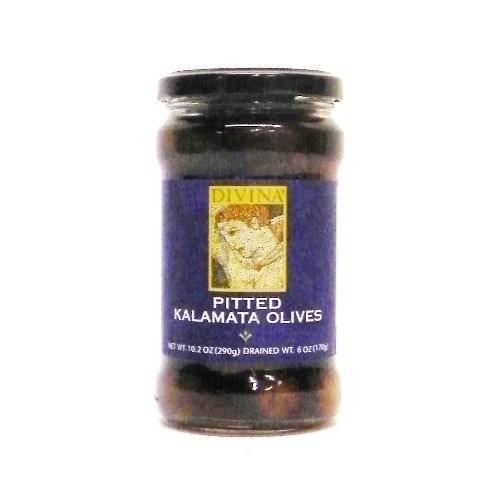 Divina Pitted Kalamata Olives, 6 Oz. Case of 6