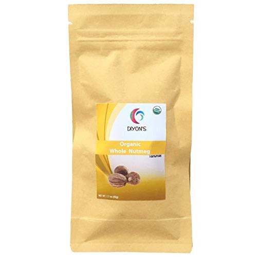 Organic Whole Nutmeg 1.7 oz Packed in resealable Pouches