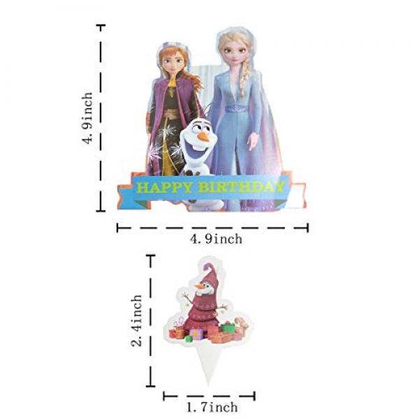 51PCS Frozen 2 Cupcake Topper Cake Toppers for Kids Birthday Par...