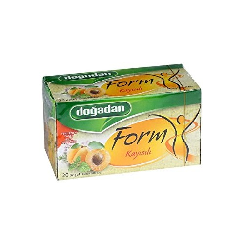 Dogadan Form Mixed Herbal Tea with Apricots, 3 Pack Each 20 Tea...