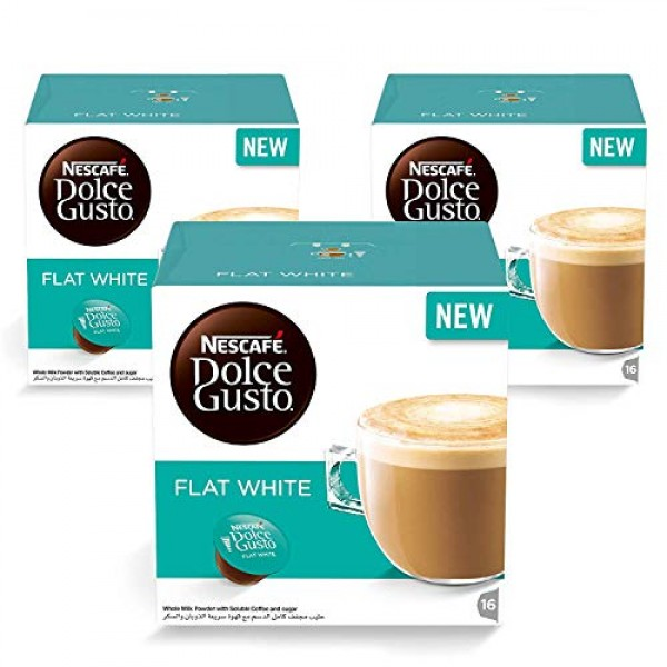 Nescafe Dolce Gusto FLAT WHITE coffee pods for Dolce Gusto Machi...