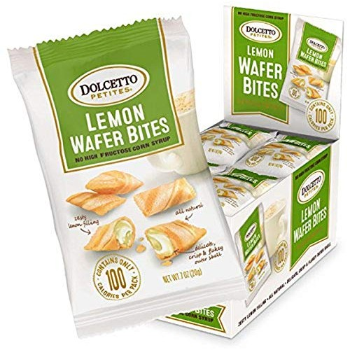 Dolcetto Lemon Wafer Bites, 0.70 Ounce Pack of 24