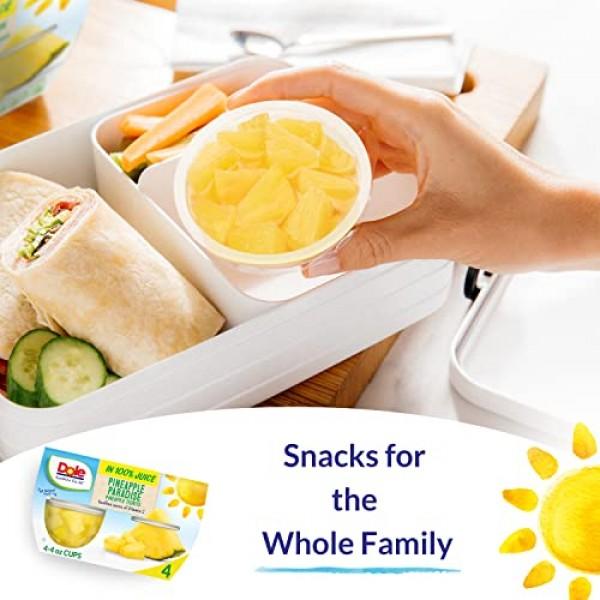 Dole Fruit Bowls, Tropical Fruit in 100% Fruit Juice, 4oz, 4 cups