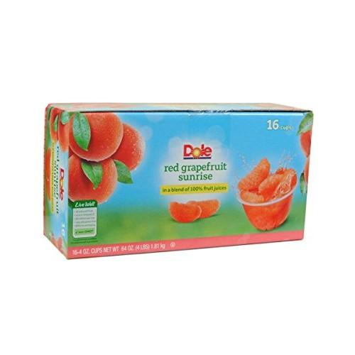 Dole Red Grapefruit Sunrise Fruit Cups, 64 Ounce