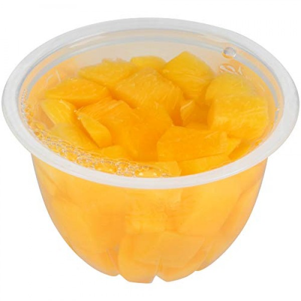 Dole Fruit Bowls, Diced Peaches in 100% Fruit Juice, 12 Count, 4...