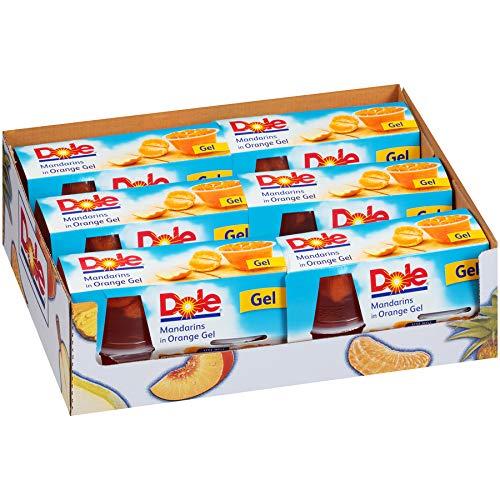 DOLE FRUIT BOWLS Mandarins In Orange Gel, 4 Cups 6 Pack