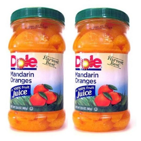 Dole Harvest Best Mandarin Oranges Pack of 2 Large 23.5 oz Size