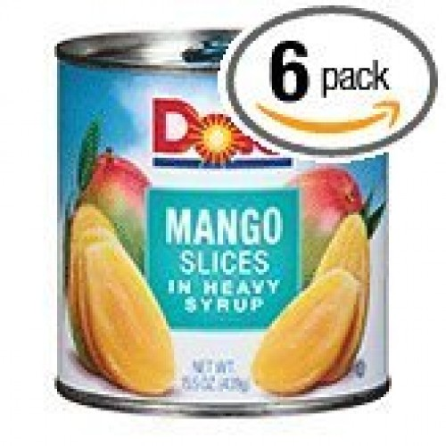 Dole Mango Slices in Heavy Syrup 15.5oz Can (Pack of 6)
