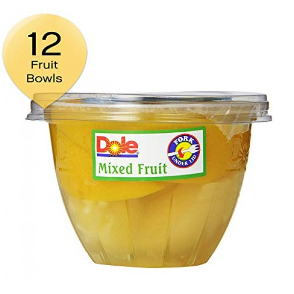 Dole Mixed Fruit In Light Syrup, 7-Ounce Containers Pack of 12
