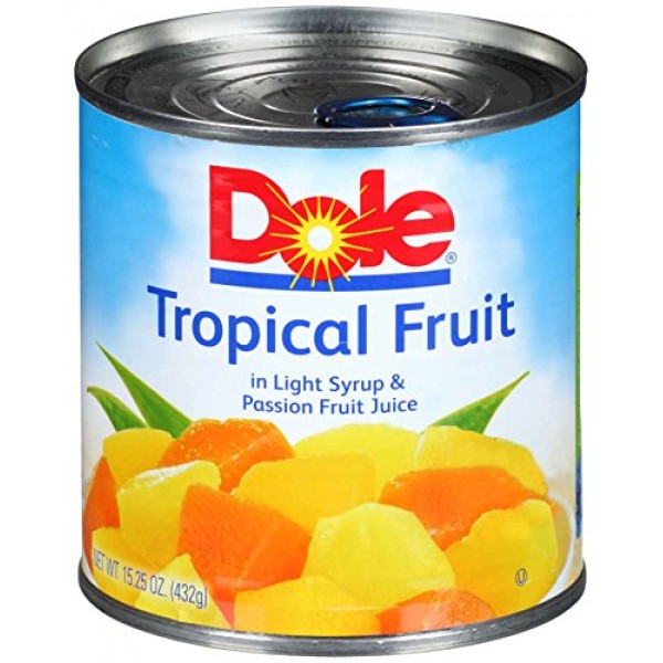 DOLE Mixed Tropical Fruit in Light Syrup and Passion Fruit Juice...