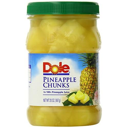 Dole Pineapple Chunks, 20 Ounce Pack of 4