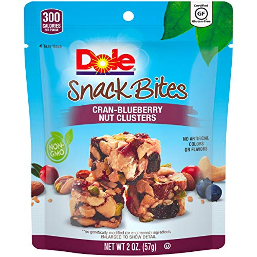 DOLE SNACK BITES Cran-Blueberry Clusters, 2 Ounce, Pack of 12
