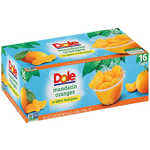 Dole Mandarin Orange Bowl, 4oz Cup (Pack of 16 Cups, Total of 64...
