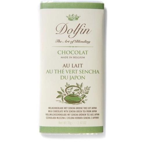 Dolfin Belgium Chocolate Bar - Milk with Sencha Green Tea 2.5 o...