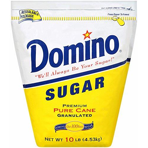 Domino Premium Pure Cane Granulated Sugar, 10 lbs. pack of 2
