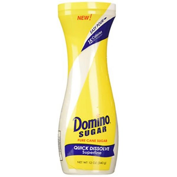 Domino White Sugar Pure Cane Sugar Quick Dissolve Superfine 12oz...