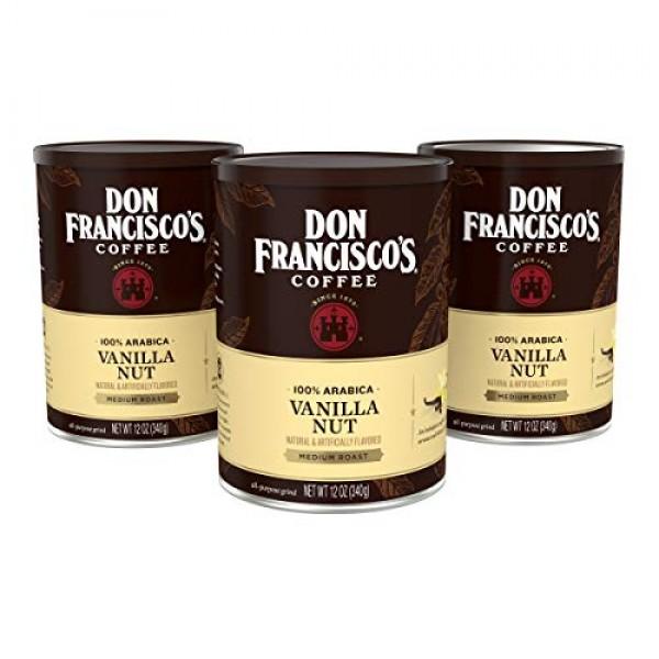 Don Franciscos Vanilla Nut Flavored Ground Coffee, 100% Arabica...
