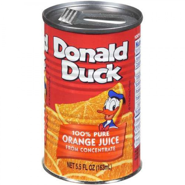 Donald Duck Orange Juice, 5.5-Ounce Cans Pack of 24