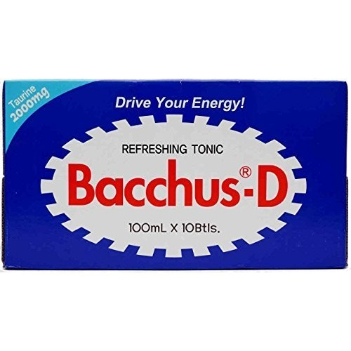 Bacchus-d Energy Drink 10 X 100ml 3.3 Fl Oz by dong-A