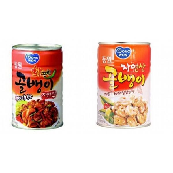 Dongwon Canned Bai Top Shell Combo Regular & Hot, 14.1oz each P...