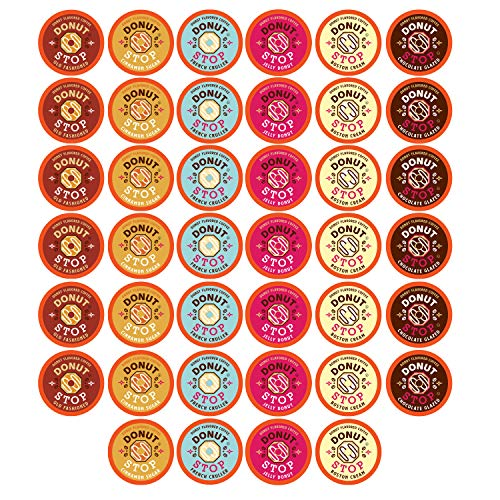 Donut Stop Coffee Flavored Coffee Pods, Compatible with 2.0 K-Cu...