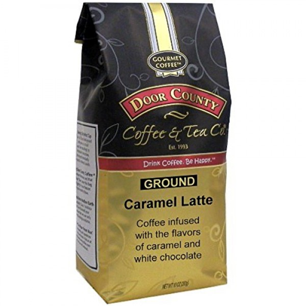 Door County Coffee, Caramel Latte, Caramel & White Chocolate Fla...