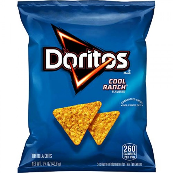 Doritos Cool Ranch Flavored Tortilla Chips, 1.75 Ounce Pack of ...