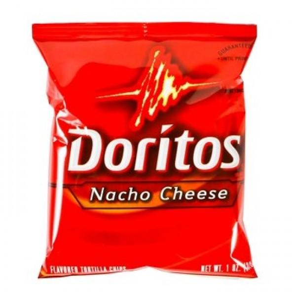 Doritos Nacho Cheese Tortilla Chips, Single-Serve, 1 Oz Bag, 104...