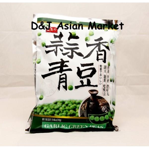 Shengxiangzhen Garlic Green Peas 8.46oz Pack of 4