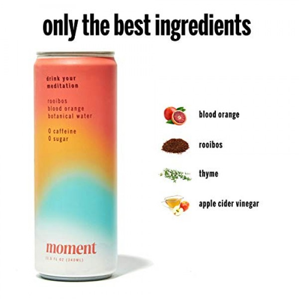 Moment Botanical Water Rooibos Blood Orange. Delicious & Refre...