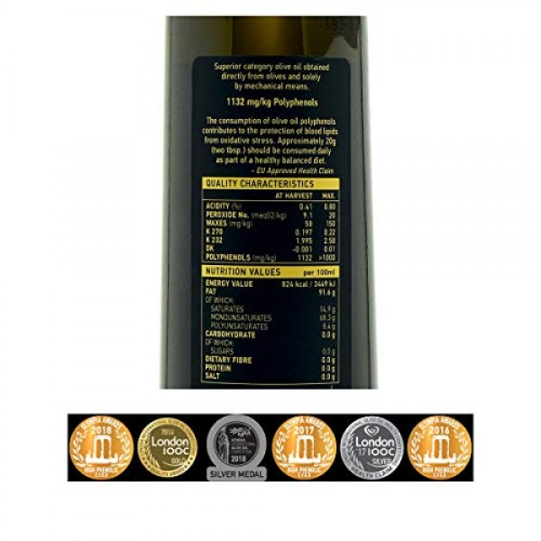Organic Extra Virgin Olive Oil Drop of Life | Unfiltered Natural...