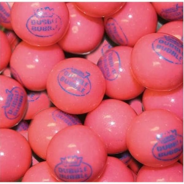 Dubble Bubble Pink 1928 Original 24mm Gumballs 1 Inch, 5 Pounds ...
