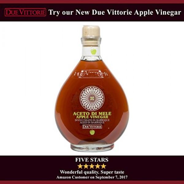 Due Vittorie Oro Gold Balsamic Vinegar without Pourer, 8.45fl oz...