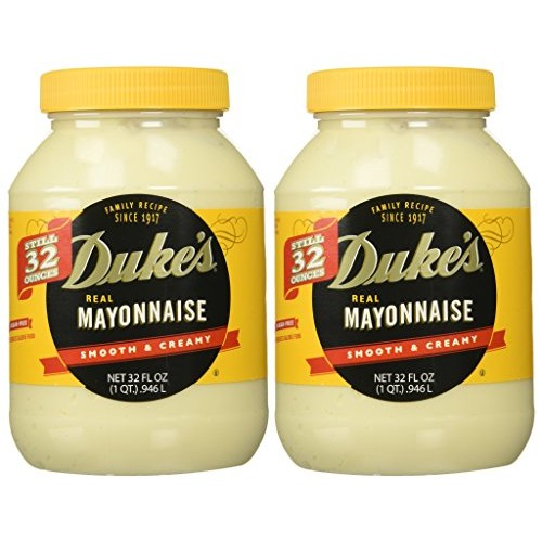Dukes Mayonnaise, 32-ounce Jar - Pack of 2