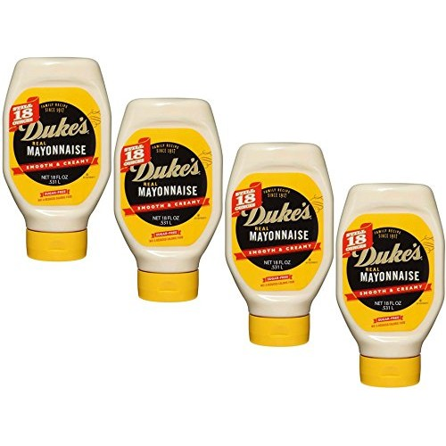 Dukes Real Mayonnaise, 18 oz. squeeze bottle 4-pack case