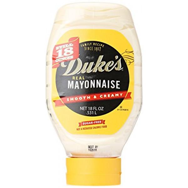 Dukes Mayonnaise Squeeze, 18 oz
