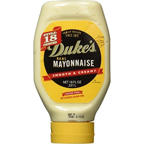 Dukes Real Mayonnaise 3 Pack, 18oz Each