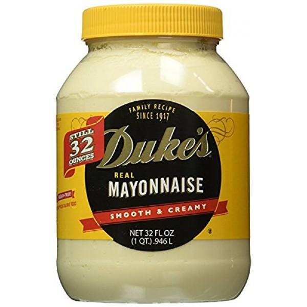Dukes Real Mayonnaise, 32 oz Pack of 4